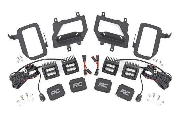 Rough Country Ford LED Black Series Spot Fog Light Kit for