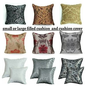 details about new luxury jacquard cushion covers filled cushions 18x18 small or 23x23 large