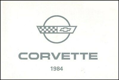 CORVETTE 1984 MANUAL OWNERS CHEVROLET BOOK OWNER'S