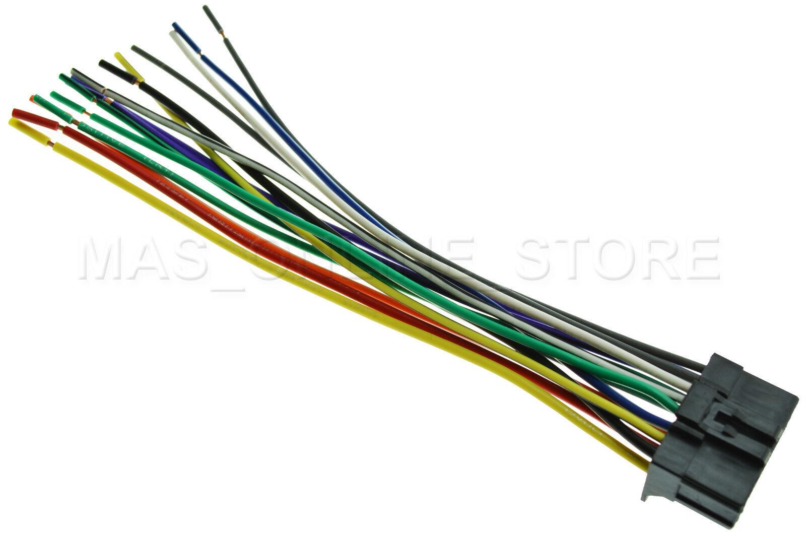 hight resolution of pioneer avh p2300dvd avhp2300dvd wire wiring harness for sale online ebay