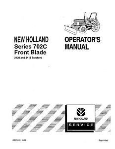 NEW HOLLAND Series 702C Frontblade for 2120 and 3415