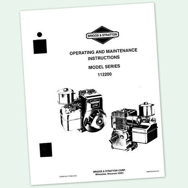 BRIGGS AND STRATTON 4hp ENGINE 112200 OPERATING