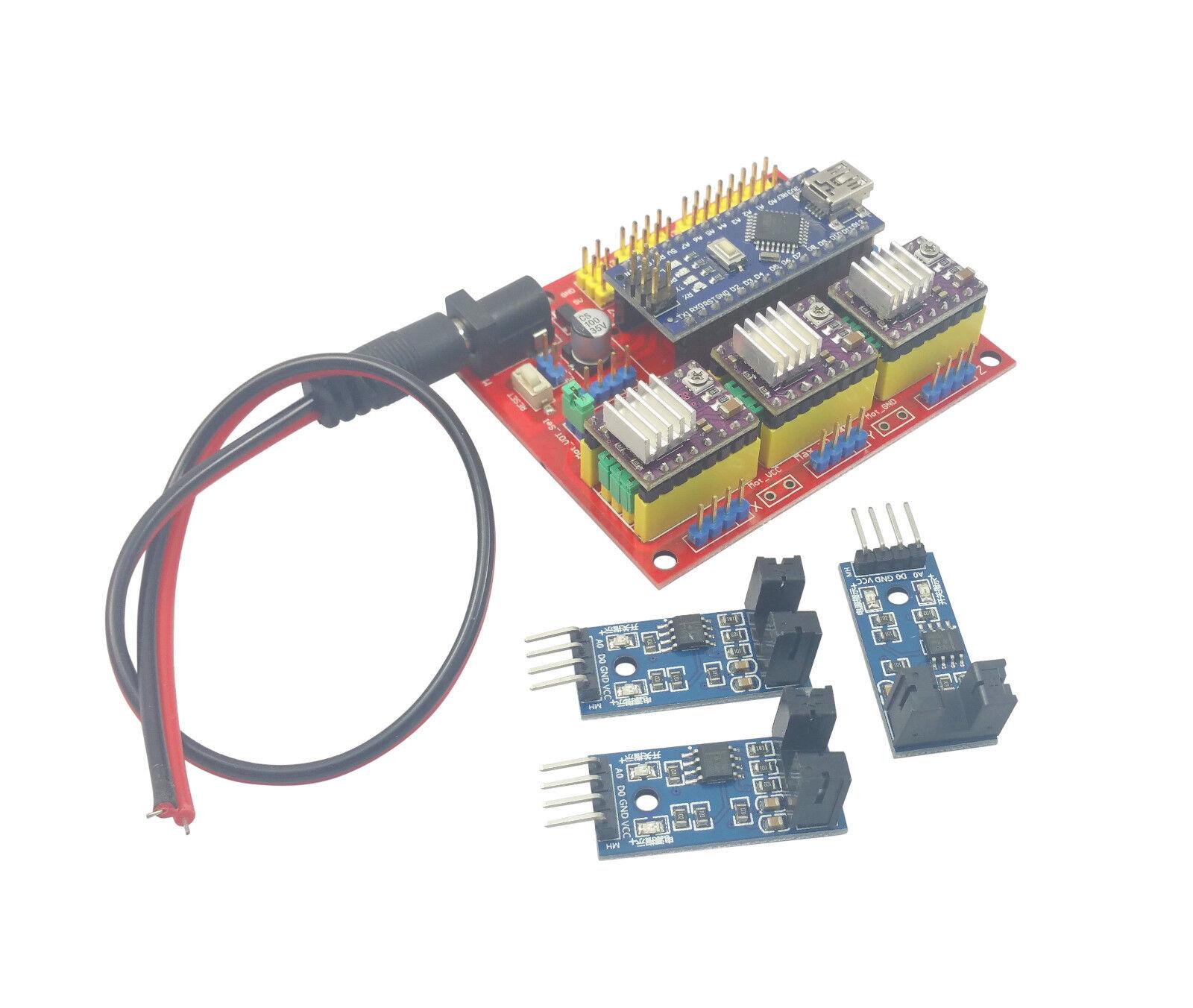 hight resolution of arduino nano cnc shield drv8825 board package kit w 3x optical cnc machine control diagram cnc cnc limit switch