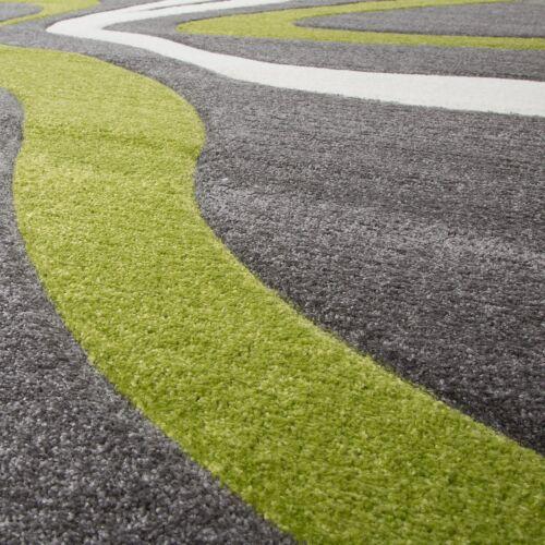 tapis gris vert blanc salon tapis modernes avec decoupe des contours