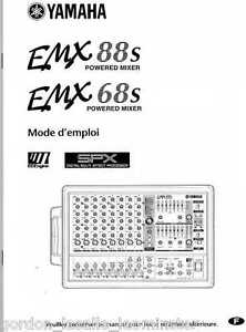 Yamaha EMX88S EMX68S Powered Mixer Manual FRENCH Mode d