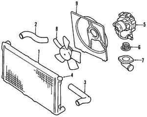 SUBARU 45137AC000 GENUINE OEM FAN SHROUD item#9 in diagram