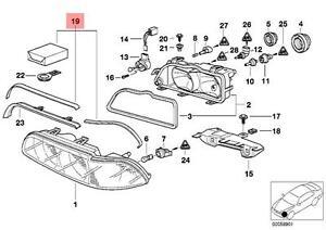 Genuine BMW 5 Series E39 Saloon Estate Headlight Repair