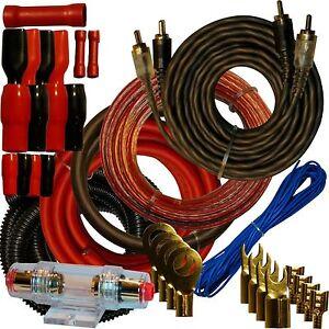 4 Gauge Amplfier Power Kit For Amp Installation Cablage