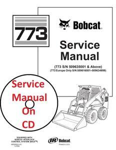 Bobcat 773 Skid Steer Loader Service Manual Part # 6900092