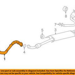 Toyota Rav4 Exhaust System Diagram Mitsubishi Triton Ecu Wiring Oem 06 08 2 4l L4 Front Pipe 1741028583 Image Is Loading