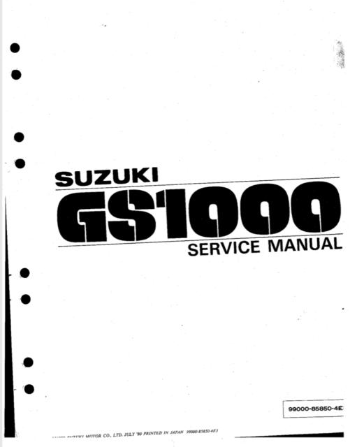 GS1000 SUZUKI 1979 1980 E BOOK Service Manual *** SPECIAL