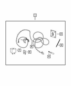 Genuine Mopar Tow Hitch Wiring Harness 4-Way Connector