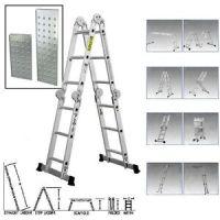 15.5 ft Multi Folding Aluminum Extension Ladder Scaffold ...