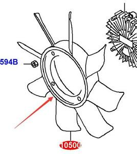 Fan Blade For Mitsubishi Fuso Canter BE63E BE642 BE64E