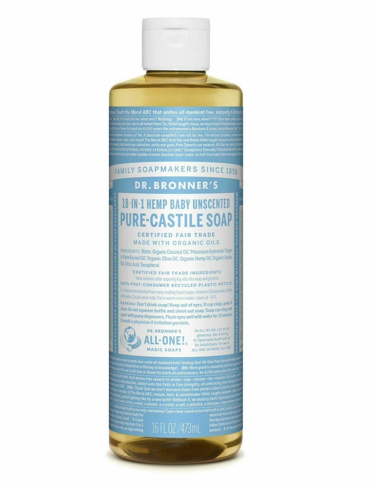 Dr Teal's Baby : teal's, Bronner, Organic, Castile, Liquid, Online