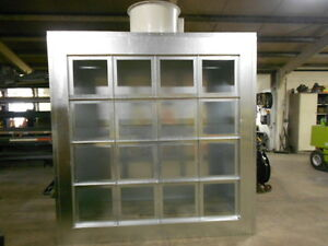 details about 10 wide x 7 tall spray paint booth exhaust wall 1 phase made in usa