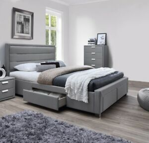 details about queen size bed frame storage fabric bed frame grey alora bed frame