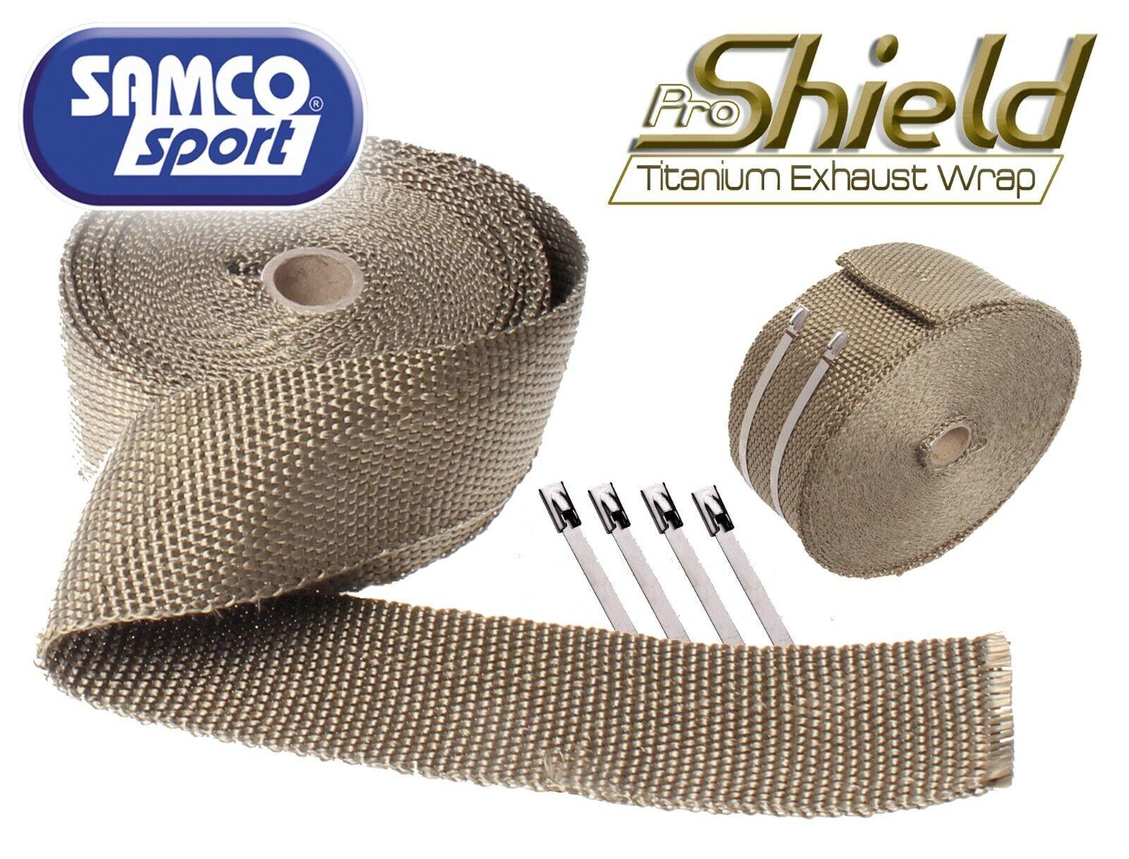 titanium exhaust wrap heat insulating manifold downpipe samco sport 50mm x 30m