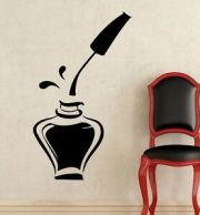 wall decals bottle of nail polish