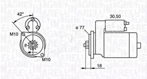 Magneti Marelli Starter Motor Fits HYUNDAI Elantra KIA