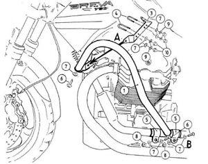 Moto Guzzi Breva V 750 ie Engine protection bar Chrome BY