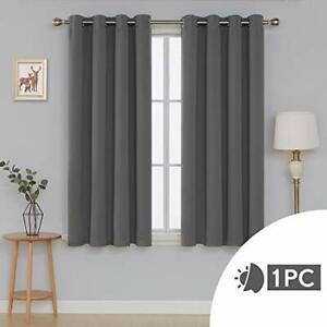 details sur rideau a oeillet isolant thermique occultant chambre salon 132x160cm gris clair