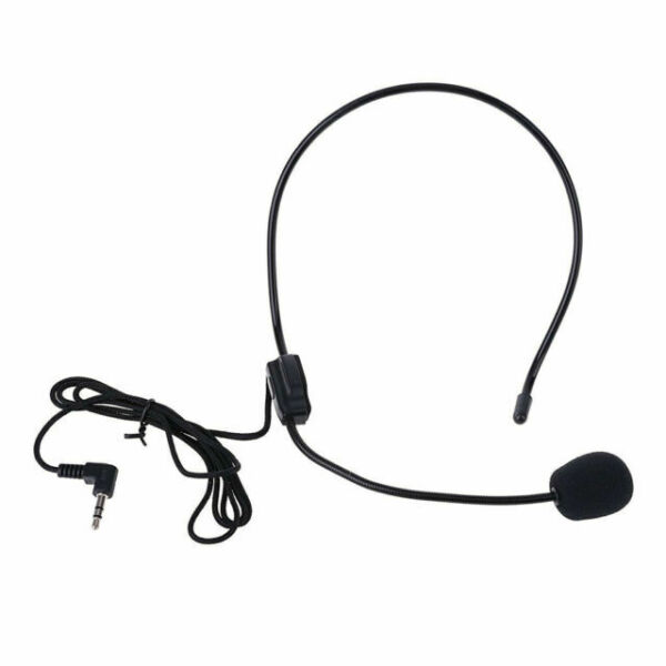 Headset Mic Wearing a Wire Microphone Clip Megaphone for