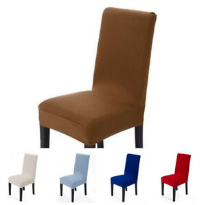 dining room chair covers ebay bentwood bistro chairs uk 4 pieces spandex stretch washable cover slipcovers image is loading