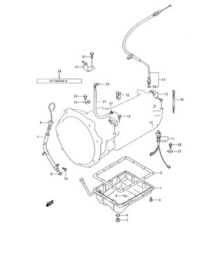 KICK DOWN CABLE TRANSMISSION THROTTLE CABLE FOR SUZUKI