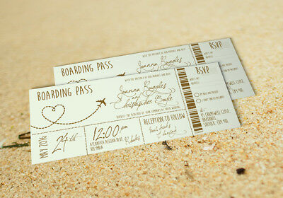 Boarding Pass Ticket Wedding