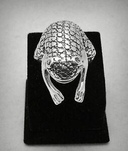 Silber ring 925 gross Frosch R000752 EMPRESS  eBay