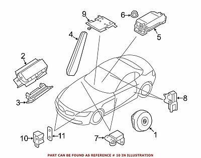 2009-2016 BMW X3 X5 X6 Z4 IMPACT SENSOR SRS OEM NEW VICSAP