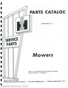 International Harvester 115 Balanced Head Mower Parts
