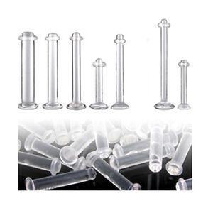 2er Set 1,2 oder 1,6mm Bio Plastik Piercing Retainer Lippe Ohr Zungenpiercing
