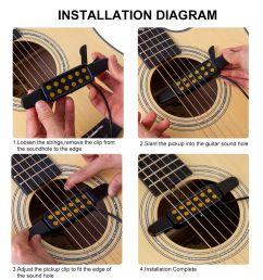 kq 3 clip on acoustic guitar pickup amplifier speaker sound 12 hole black n8f ag for sale online ebay [ 1000 x 1000 Pixel ]