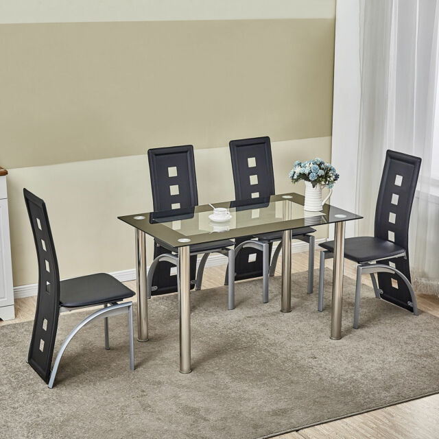 5 piece glass dining