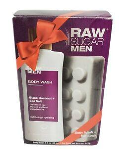 RAW SUGAR Men Black Coconut + Sea Salt Body Wash 3 fl oz ...