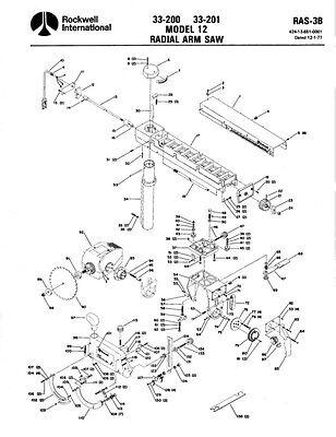 Delta Rockwell No. 33-200 & No. 33-201 Model 12 Radial Arm