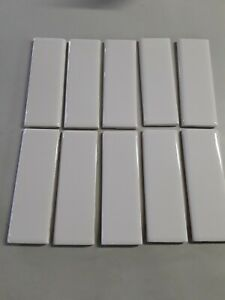 details about 10 american olean starting line biscuit gloss ceramic bullnose tiles 2 x 6