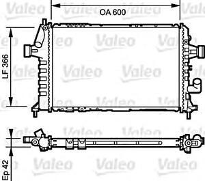 VALEO Engine Cooling Radiator Fits OPEL Astra VAUXHALL