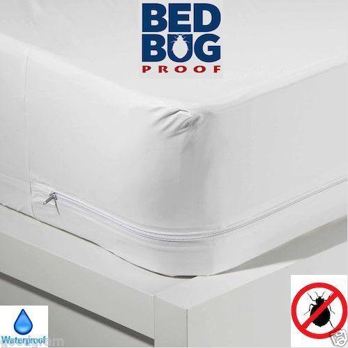 Waterproof Bedbug Proof Allergen Zippered Vinyl Mattress Cover Protector 4size Twin Ebay
