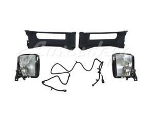 Front Bumper Tow Hook Bezel Fog Light Harness For Dodge