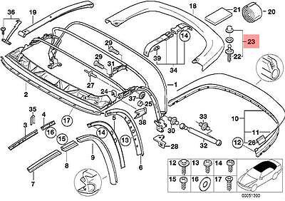 Genuine BMW Z3 Roadster Folding Rooftop Cover Repair Kit