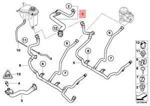 Genuine BMW E82 E84 E88 E90 Upper Hose for Engine Radiator