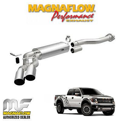 magnaflow 3 cat back dual exhaust system 2011 2014 ford f150 raptor 6 2l v8 ebay