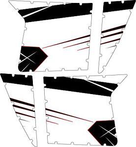 Pro Armor Door Graphics Kit Polaris RZR S XP 900 White