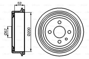 Brake Drum 200mm 66,7mm Fits BEDFORD DAEWOO OPEL VAUXHALL