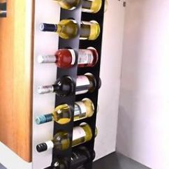 Kitchen Wine Rack Kohler Touchless Faucet Under Cabinet Space Filler 7 Bottle Holder Unit Image Is Loading