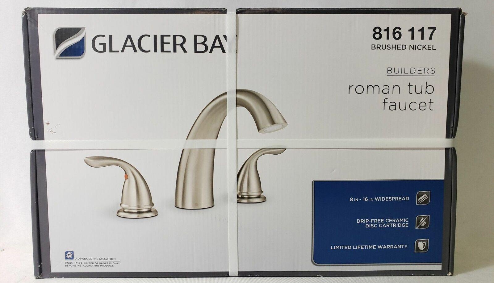 glacier bay roman tub faucet brushed nickel 816117 no screws a1 1333