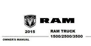 2015 Ram Truck 1500 2500 3500 Owner's Owner Owners User